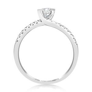 טבעת יהלום מרכזי 0.30