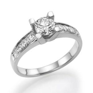 טבעת אירוסין סוליטר 0.30