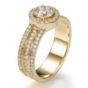 טבעת אירוסין יהלום 0.62
