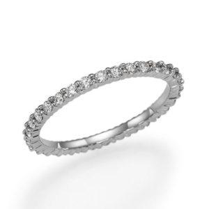 """טבעת אטרנטי יהלומים"""""""""""