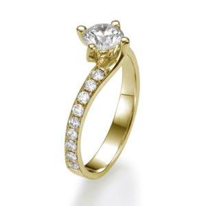 טבעת אירוסין טוויסט יהלום 0.51