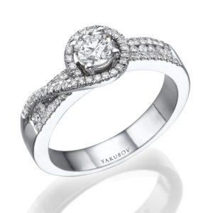"""טבעת אירוסין יהלום"""""""" 0.40"""