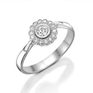 טבעת פרח 0.13