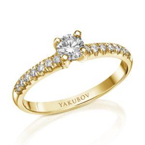 טבעת אירוסין יהלום 0.27