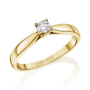 טבעת אירוסין יהלום 0.17