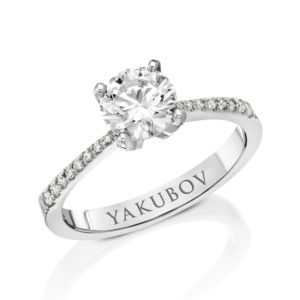 טבעת אירוסין יהלומים 1.01
