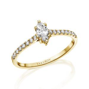 טבעת אירוסין מעוצבת מרקיזה 0.26