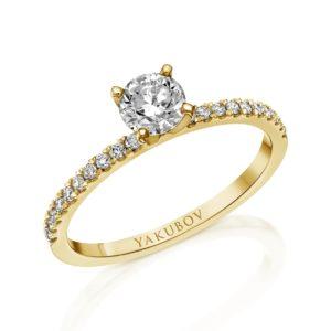 טבעת אירוסין יהלום 0.51