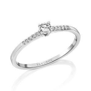 טבעת ניצוץ היהלום 0.11