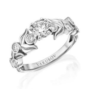 """טבעת יהלום מרכזי"""""""" 0.58"""