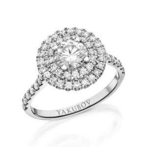 טבעת אירוסין יהלום 0.74
