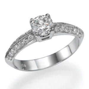 טבעת אירוסין מעוצבת 0.45