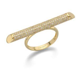 טבעת מוט יהלומים