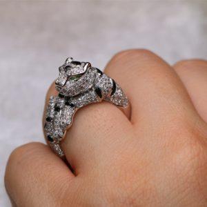 טבעת יהלומים טייגר