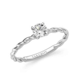 טבעת ספירלה סוליטר 0.40